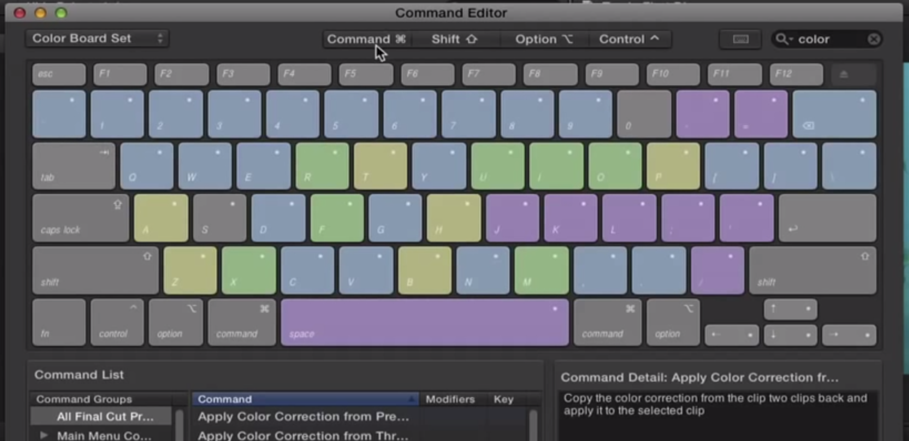 Final Cut Pro X Video Tutorial: Keyboard Shortcuts for ...