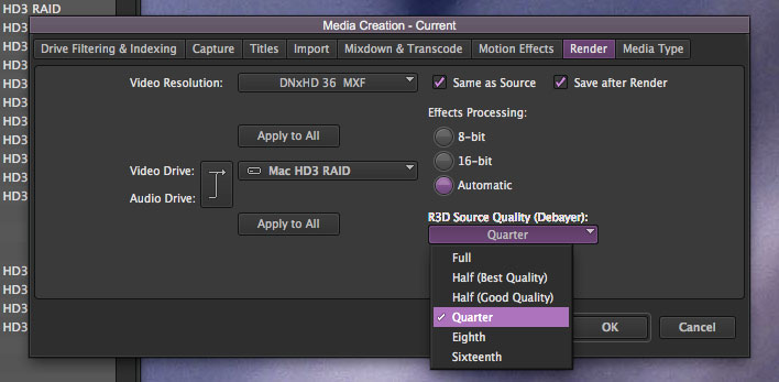 4k workflow in avid media composer