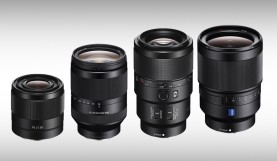 Sony Product Announcement: 4 Full-Frame E-Mount Lenses for A-Series Cameras