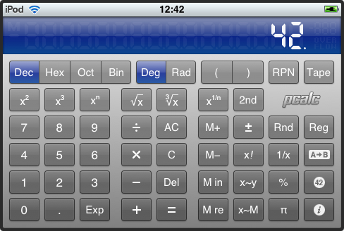 Pcalc for iPhone/iTouch
