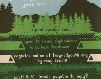 Synodic Senior Camp  June 4-9