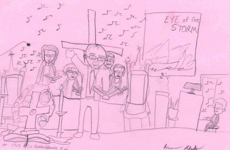 Worship drawing by Rena