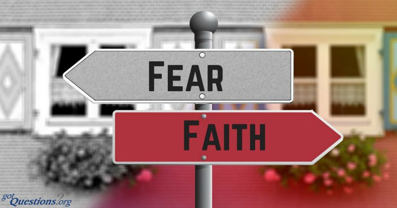 street sign to chose fear or faith