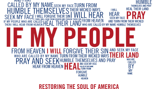 a wordle of 2 Chronicles 7:14 in the shape of the USA