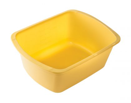 inexpensive yellow plastic wash basin