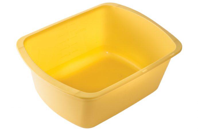 inexpensive yellow plastic wash basin