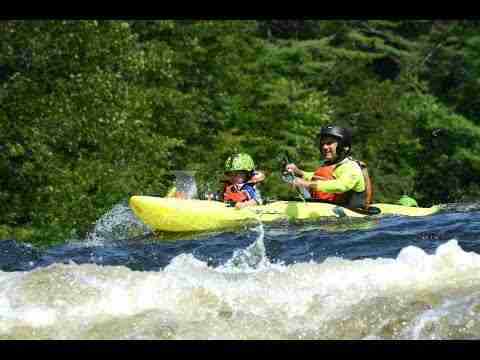 Whitewater paddling with my 3yr old son
