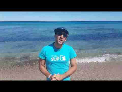 Mathieu introducing the SUP Race CUP in Sainte-Maxime