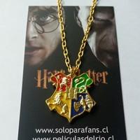 Collar escudo hogwarts harry potter peliculasdelrio soloparafans