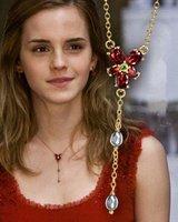 Collar hermione flor roja peliculasdelrio harry potter soloparafans
