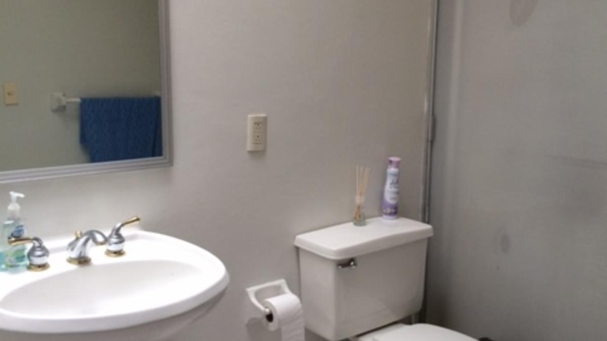 Wc  mampara y lavabo