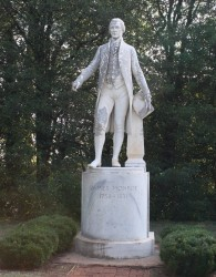 Statue of President James Monroe in the Garden at Ash Lawn-Highland