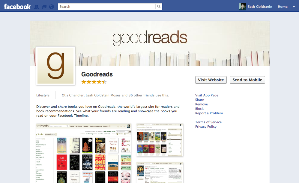 Goodreads Blog Post: Goodreads Puts the Book into Facebook ... Goodreads