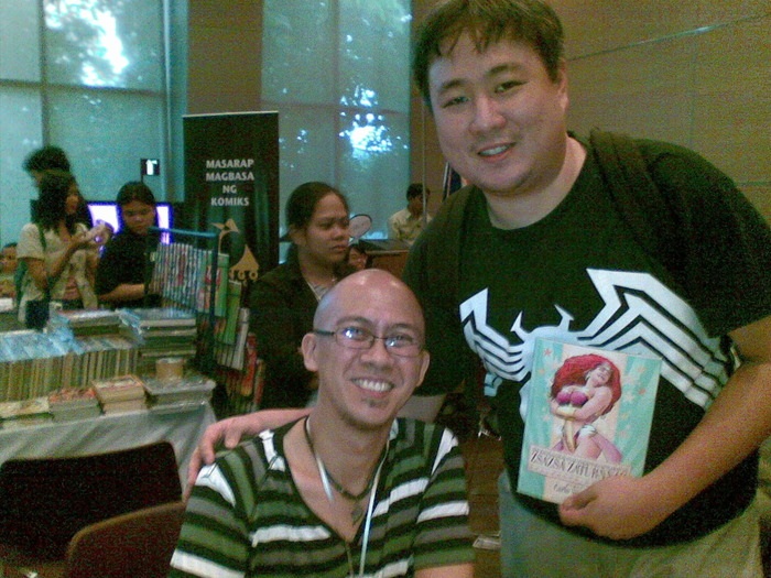 With Zsazsa Zaturnnah creator Carlo Vergara at Komikon 2011
