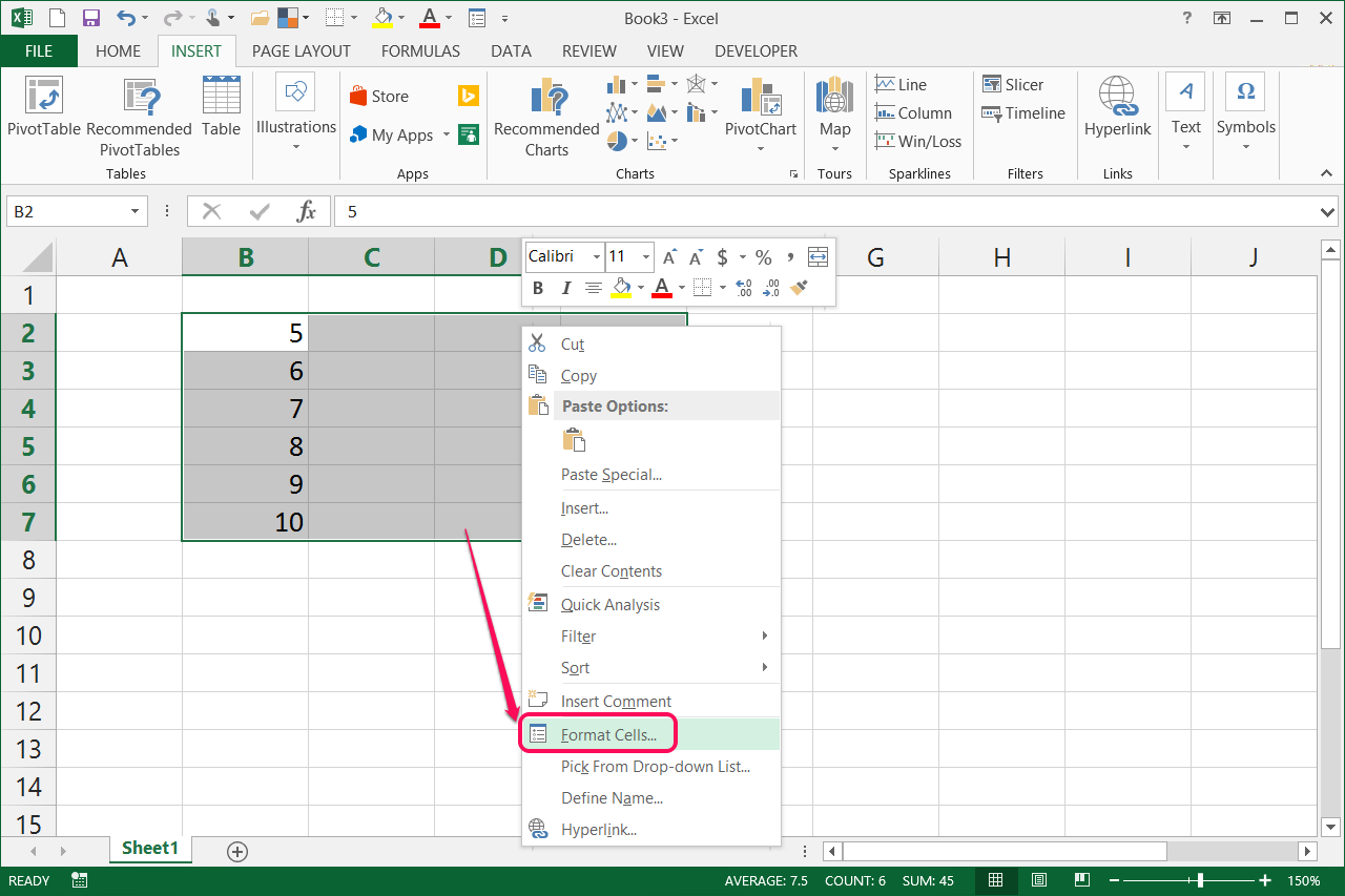 how to put enter in excel