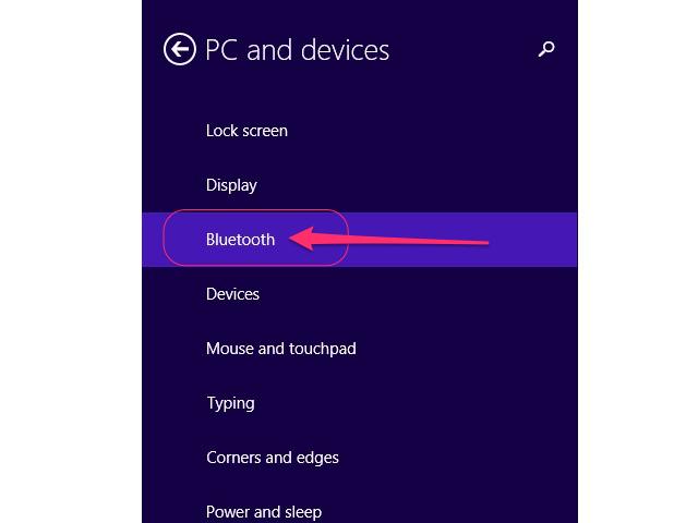 Click Bluetooth.