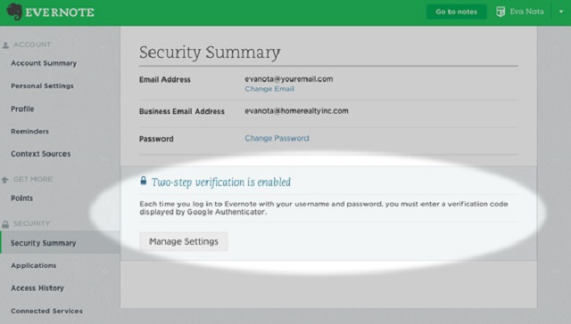 Two-step verification provides an additional layer of security.