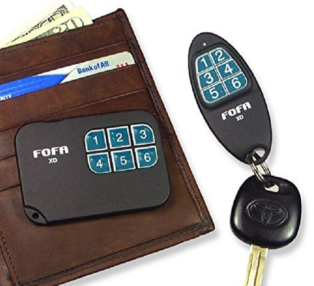The 2-Way RF FOFA Wallet Finder will into a sleeve of your wallet.