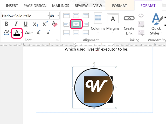Type an initial and select a unique font.