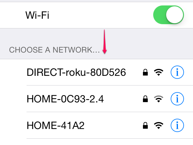 Choose a network