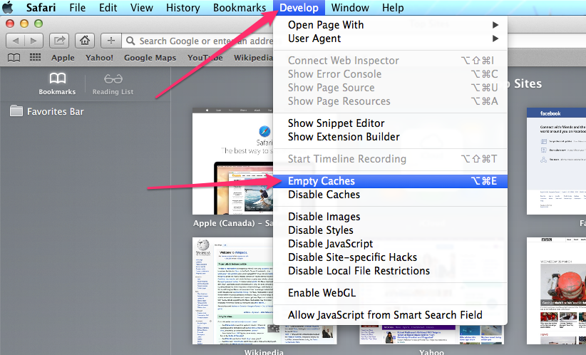 how to clear safari cache iphone