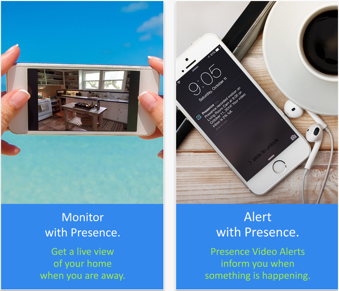 The Presence app turns your phone into a security cam.