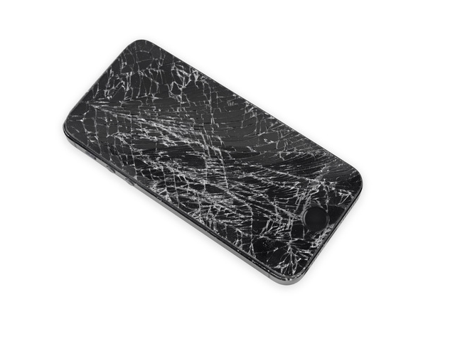 Shattered iPhone screen