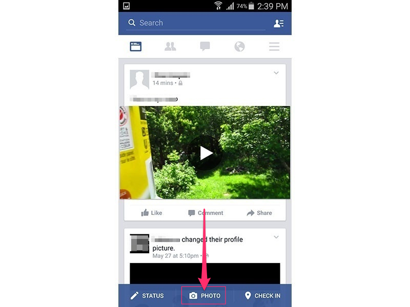 Facebook app (Android 5.0)