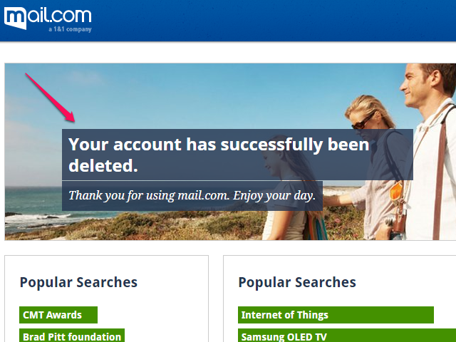 Your Account Has Been Deleted