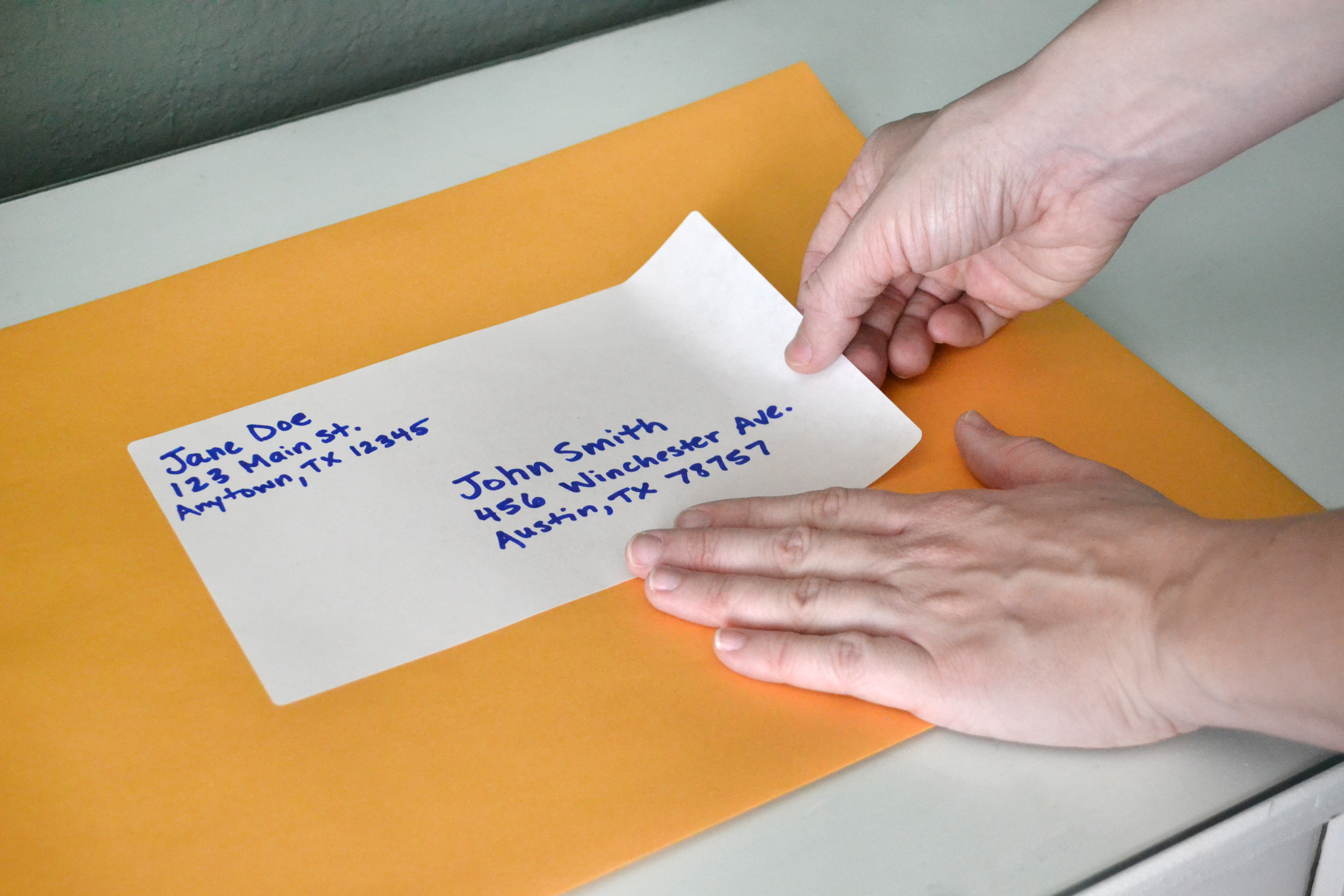 where to put stamp on envelope – Large Mailing Labels