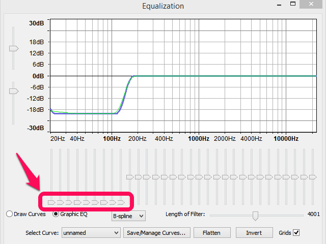 good equalizer settings for audacity