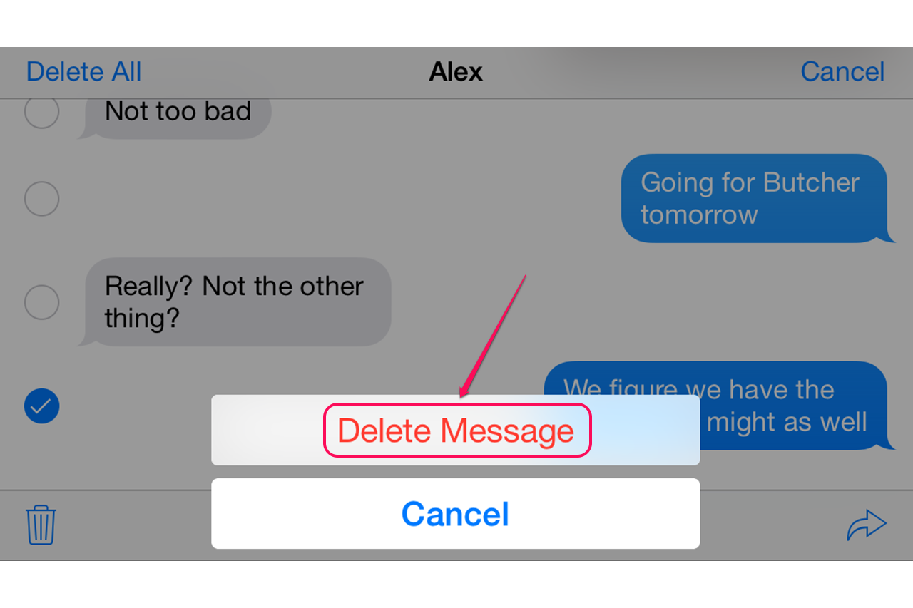 how to delete text messages on sync 3