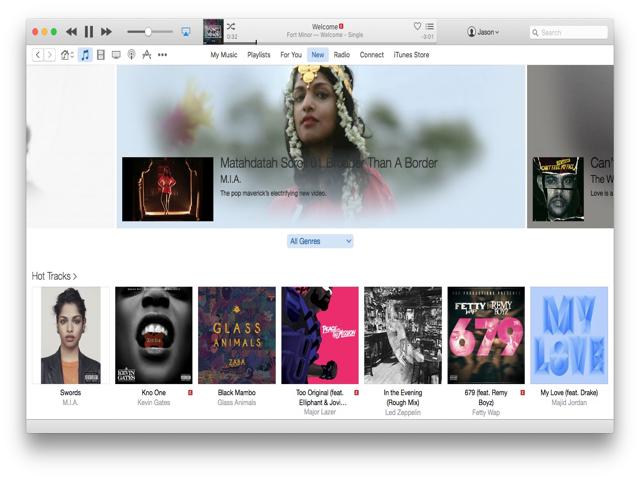 Apple Music in iTunes.