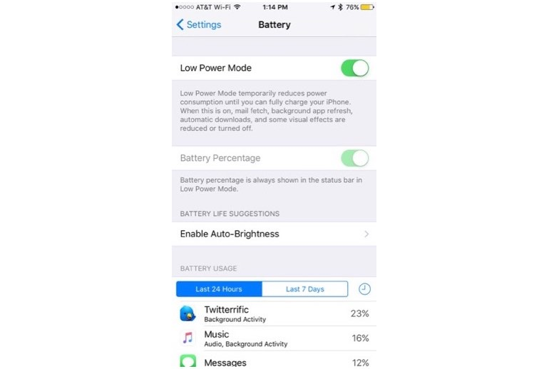 Low-Power Mode on iOS 9