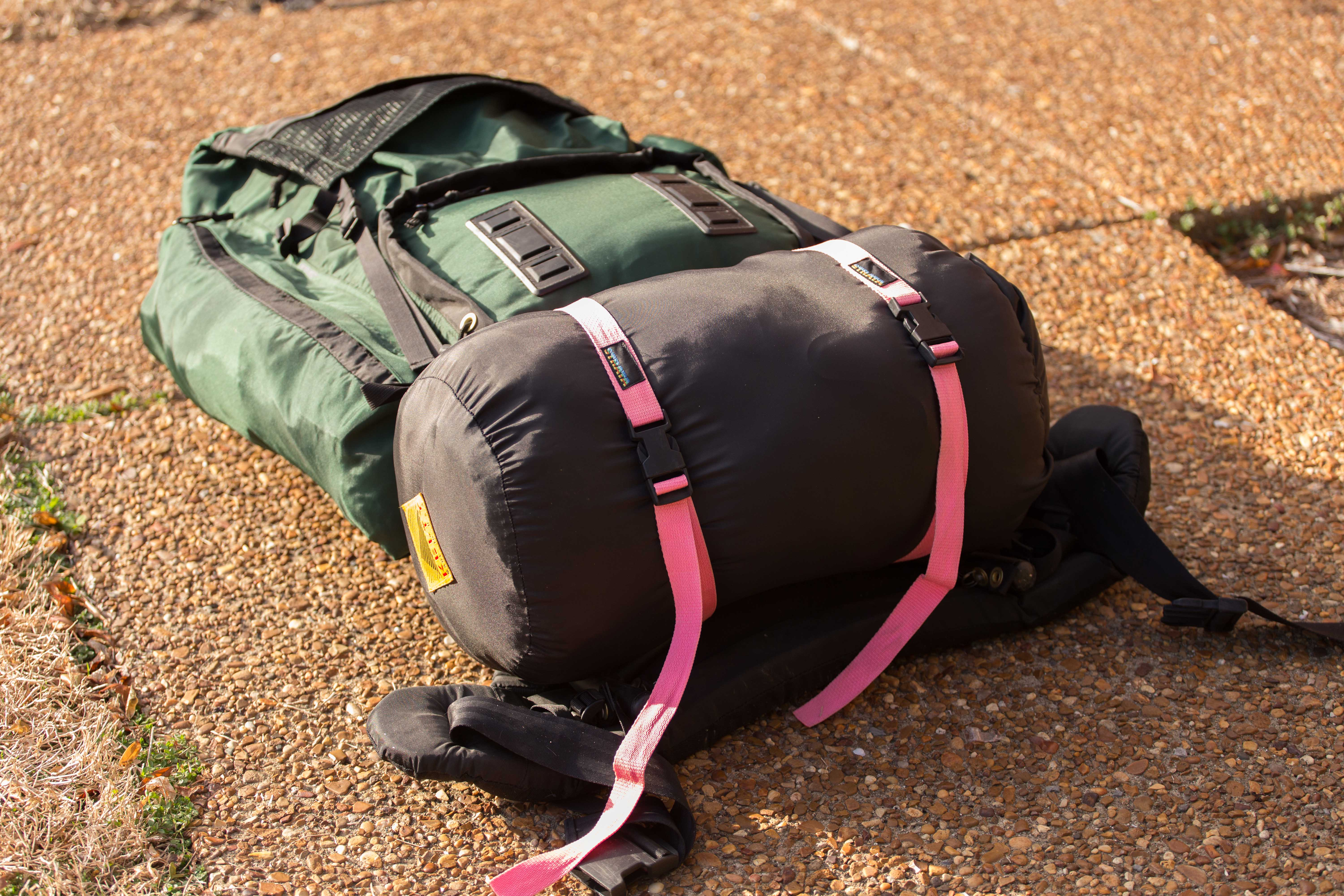 Adjust So That The Sleeping Bag Is Secure And Stable You Want Straps Digging Into To Point It Wont Bounce Around Or Fall Out