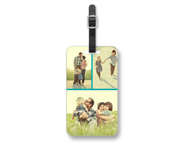 A photo luggage tag from Shutterfly is a unique photo gift for dad