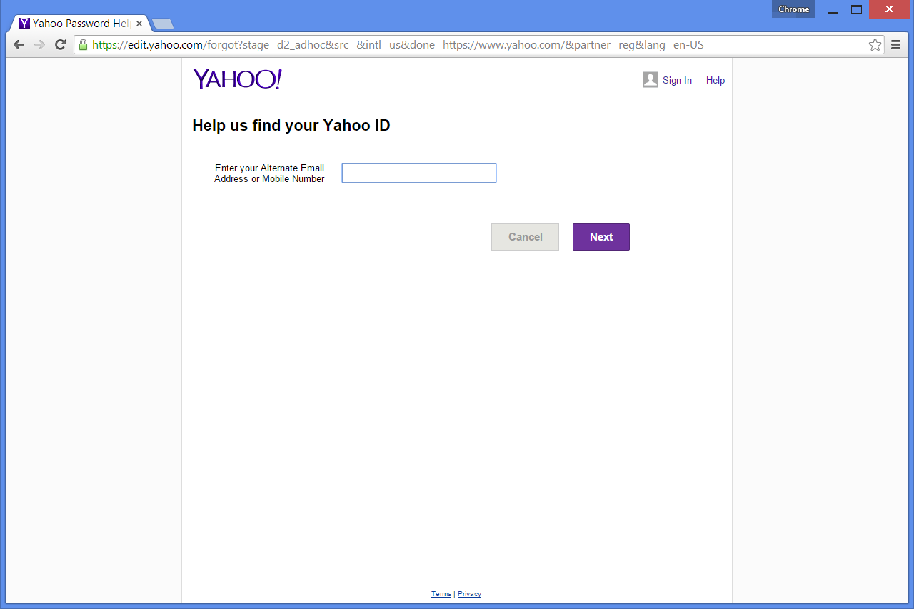 what if i forgot my yahoo email address