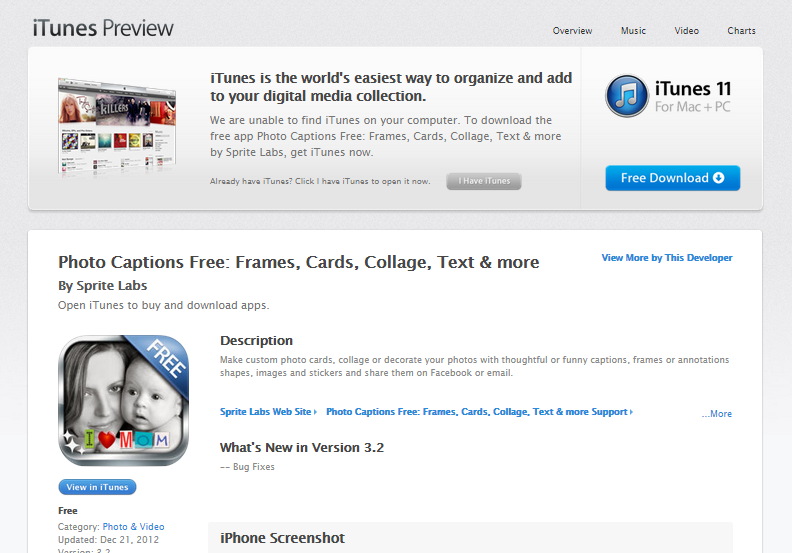 Photo Captions Free in the iTunes App Store