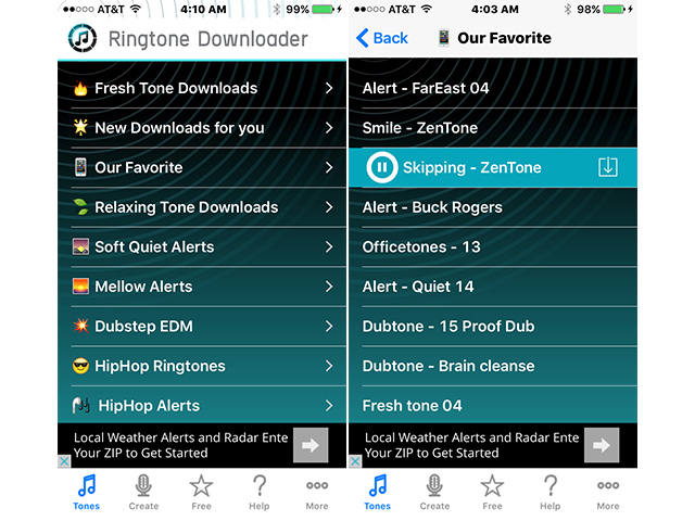Free Ringtone Downloader