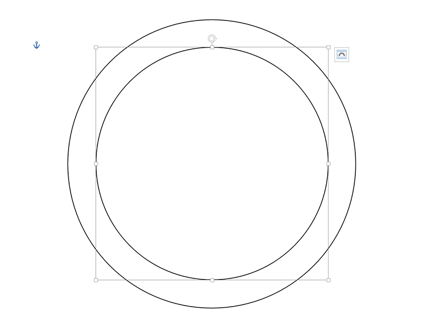 how do i create a concentric circle chart in word    techwalla comadd as many circles as you need for the chart  moving inward from the largest to the smallest  each circle can be any color you want