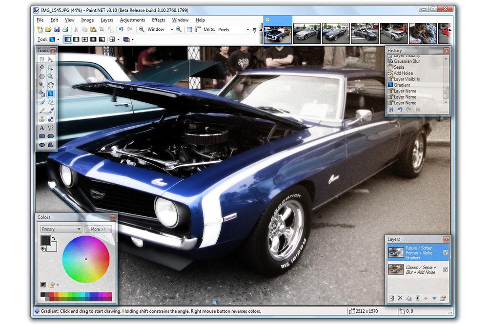 A screenshot of Paint.Net