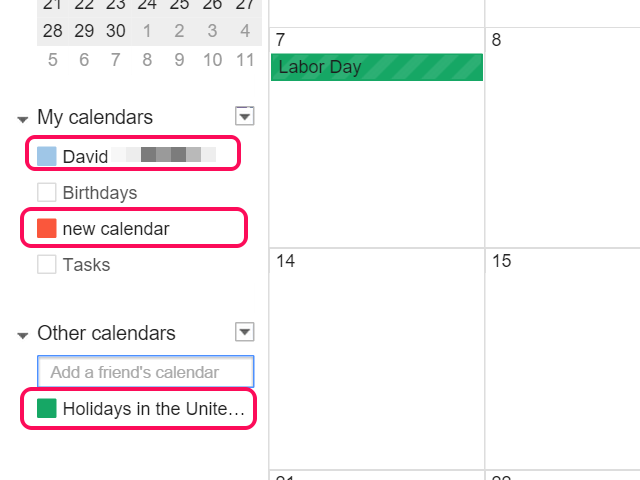 Three calendars are synced to the current view in this example.