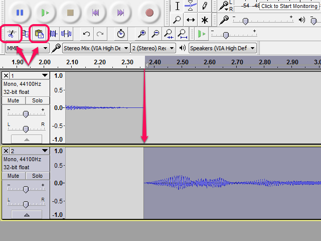 How to Align Tracks in Audacity picture
