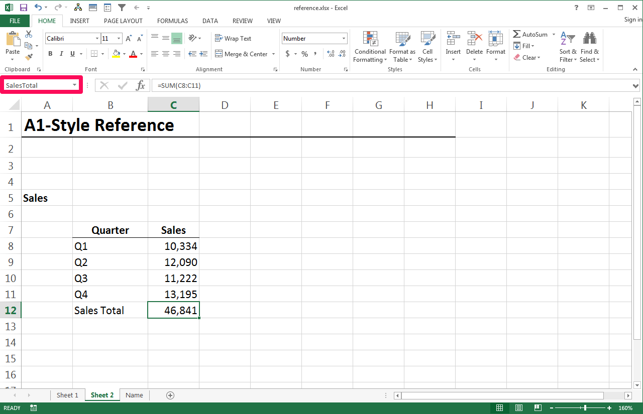 Excel worksheet name from cell