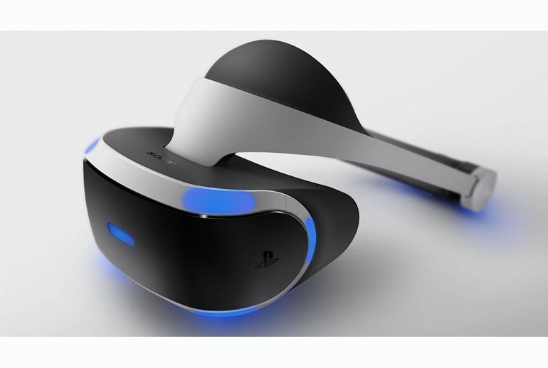 Sony PlayStation's VR headset works with the PlayStation 4 game console.