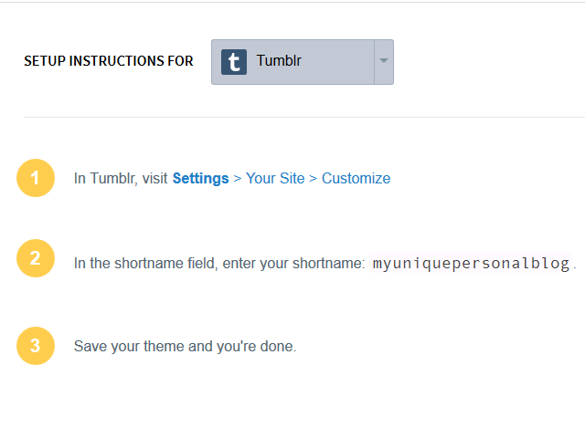 Review instructions to add Disqus to Tumblr.
