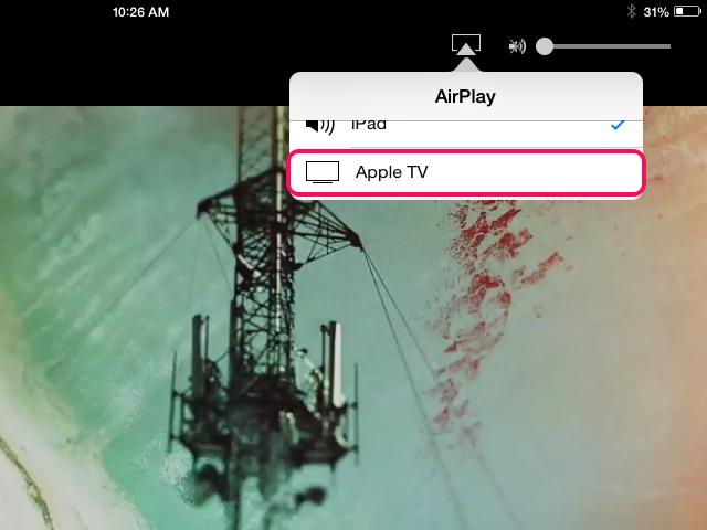 Select Apple TV.