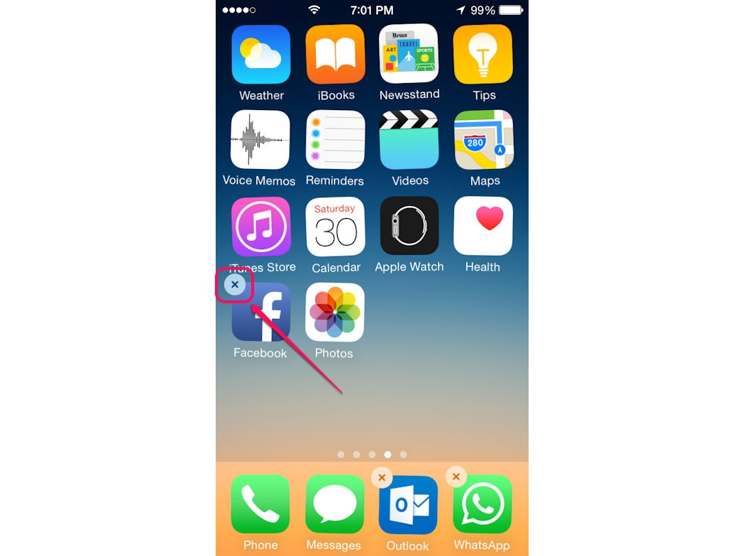 You cannot uninstall native iPhone apps, such as the Photos app.