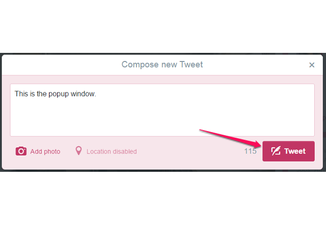 Type Your Message and Click Tweet