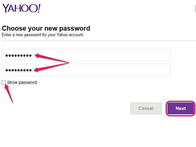 how to change youtr password yahpoo